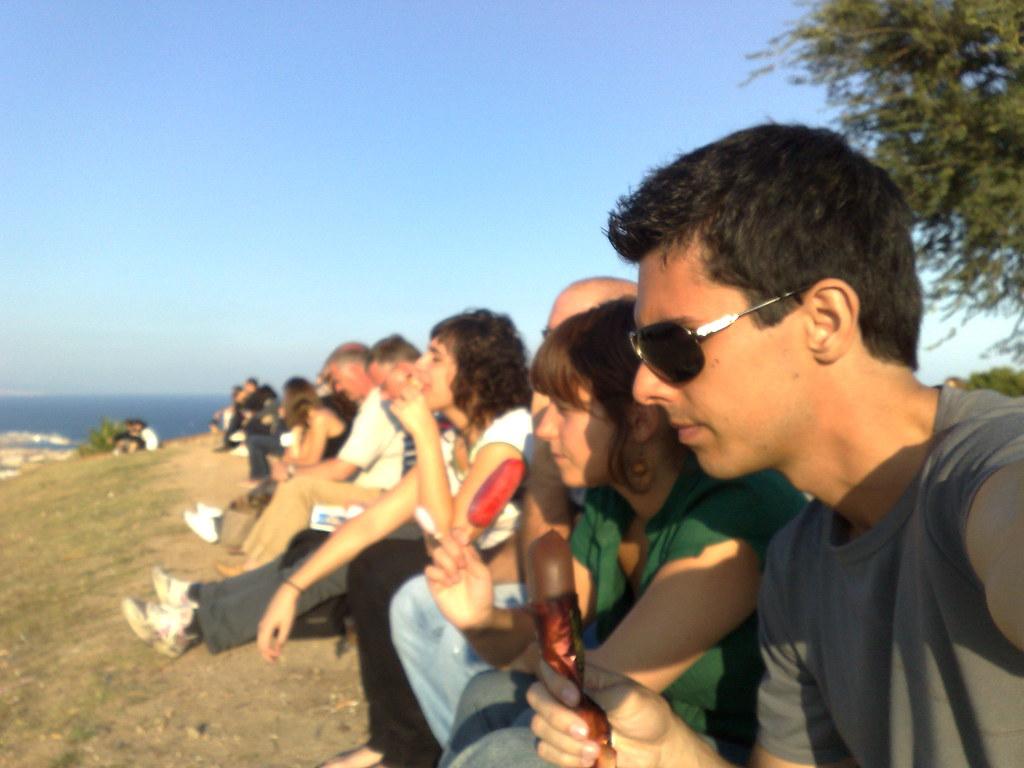 Carlos, Nagore, Patricia y Sergi en el Montjuic