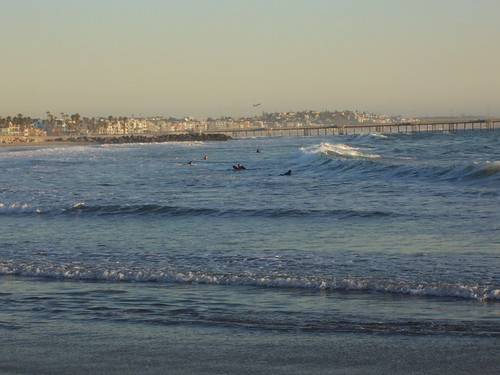 surfers on venice beach