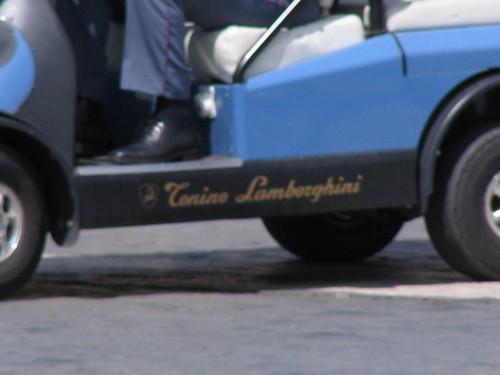 the Lamberghini golf cart