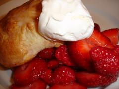 Raspberry and Strawberry Shortcake