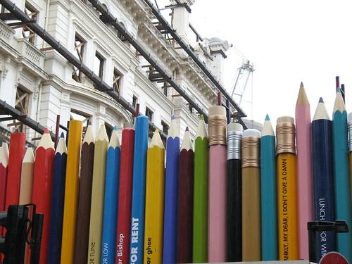 Pencil fence, Lancaster Gate, London UK