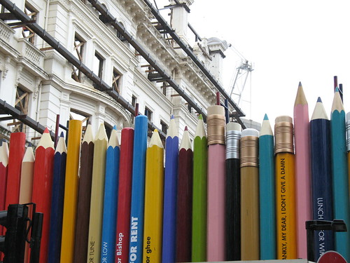 Pencil fence, Lancaster Gate, London UK