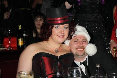 Lottie and Brian at Burlesque Night