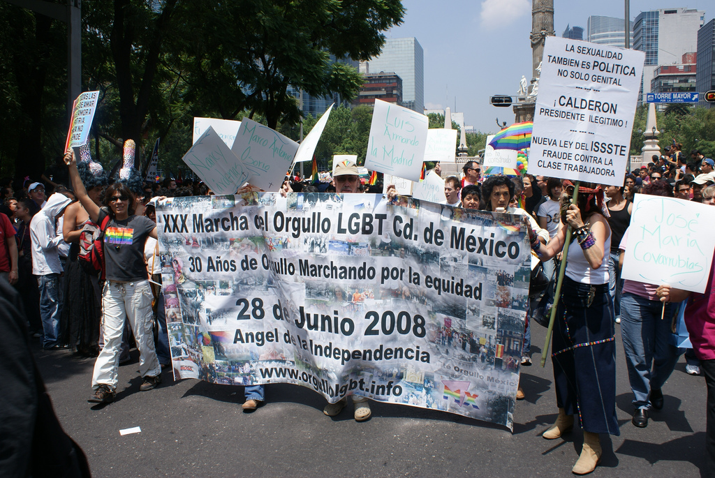 Contingente Historico en la XXX Marcha del Orgullo LGBT en México
