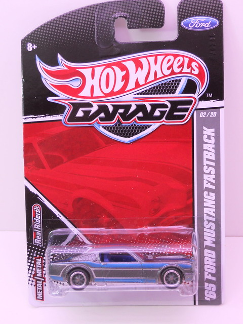 hot wheels garage '65 ford mustang fastback bluegry (1)