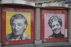 Cesar Chavez & Audre Lord at Plaza 16 Public g...