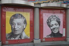 Cesar Chavez & Audre Lord at Plaza 16 Public g...