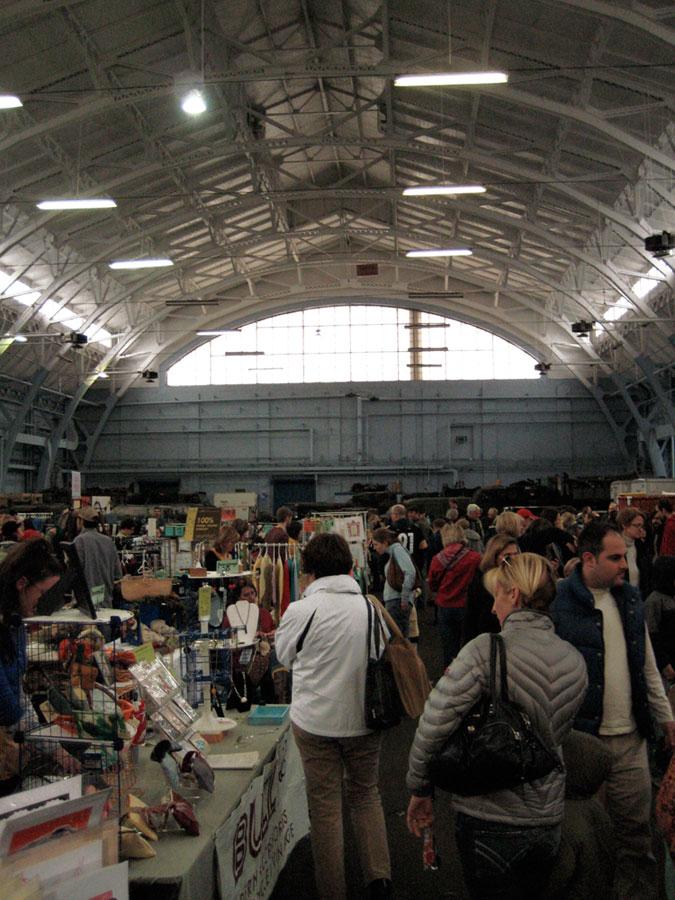 crowds at the Handmade Arcade