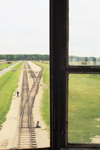 Auschwitz-Birkenau - V�as ferroviarias desde la torre central