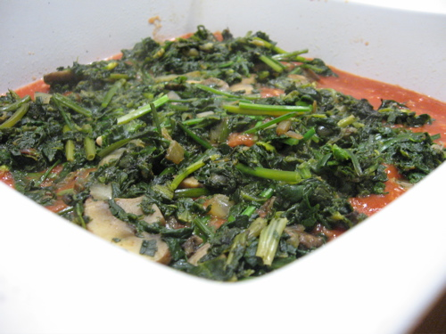 Spinach mix for lasagna