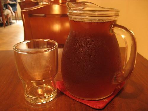 a pot of black tea