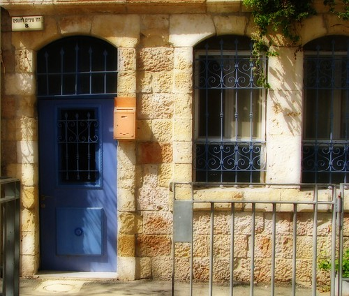 Doorway in Nahlaot, Jerusalem