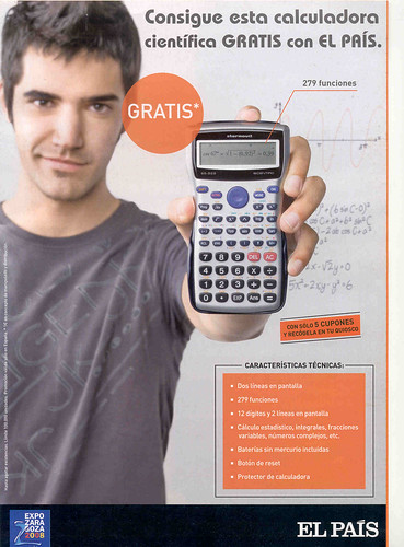 La Calculadora que nos enseña un chico universitario.