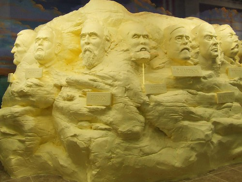 2008 butter sculpture of Ohios presidents