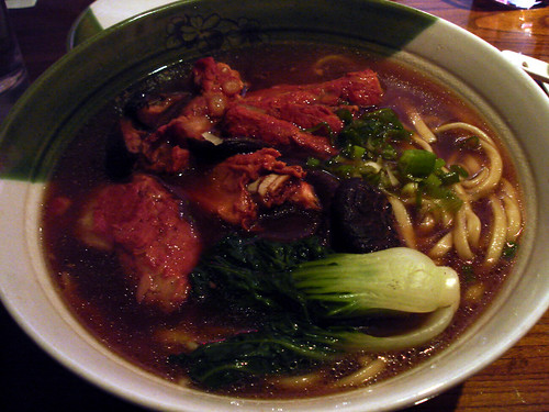 Pork Spare Ribs in Noodle Soup