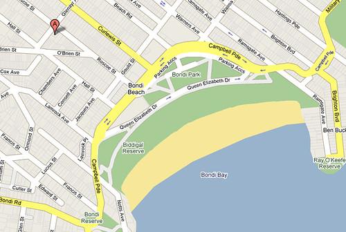 Mapa del área de nuestra casa