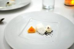 7th Course: Meyer Lemon Confit and Buttermilk Ice Cream