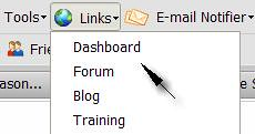 Thirty Day Challenge Toolbar - Dashboard Link