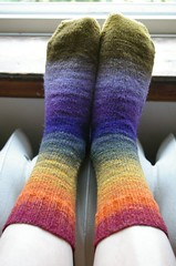 Finished Noro Kureyon Socks