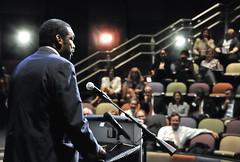 Bill Strickland speaks in Charlotte
