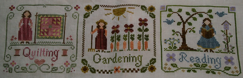 Quiliting, Gardening and Reading