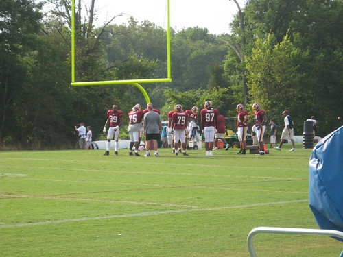 The defensive line.