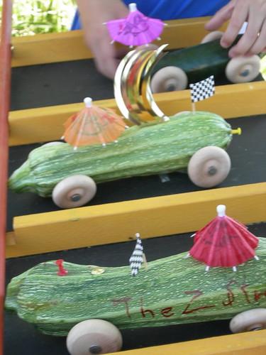 Zucchini Racecars