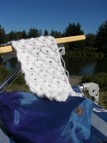Sunday knitting - best seat in the house - or outside the house!