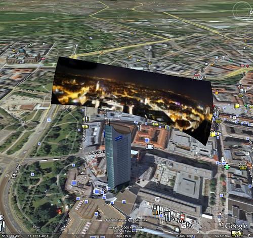 Vorschau über Google Earth