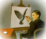 René Magritte. La clarividencia, 1936.
