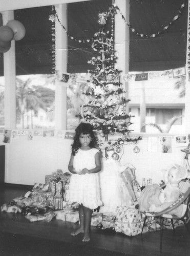 Debbie with Christmas Tree