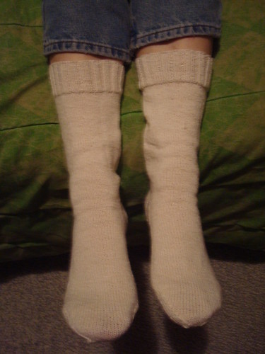 The most boring hand-knit socks ever