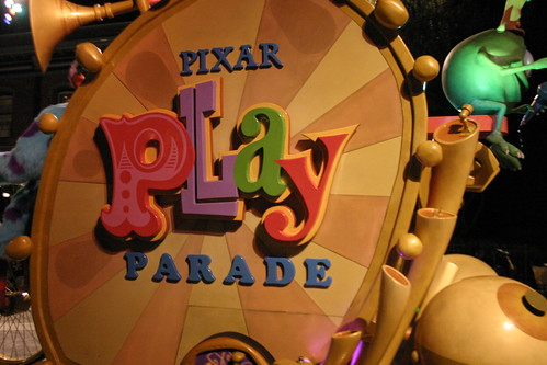 And watched the Pixar Play Parade