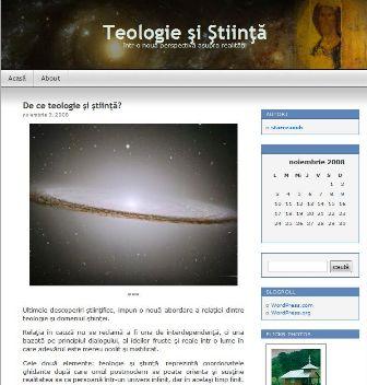 'Teologie si Stiinta' - starceanubog