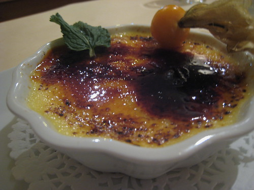 Creme Brulee a lOrange at Le Poisson Rouge