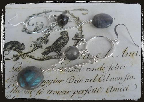 Orecchini labradorite - Labradorite earrings AMHFPCA_CB