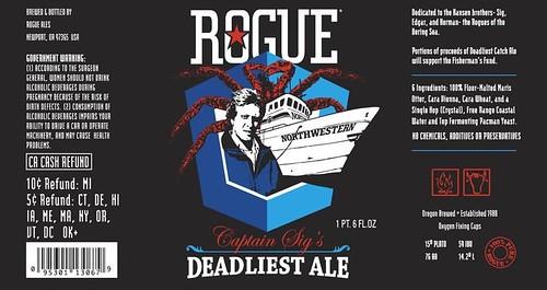 Rogues Deadliest Ale label