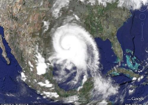 Hurrican Ike satellite photo