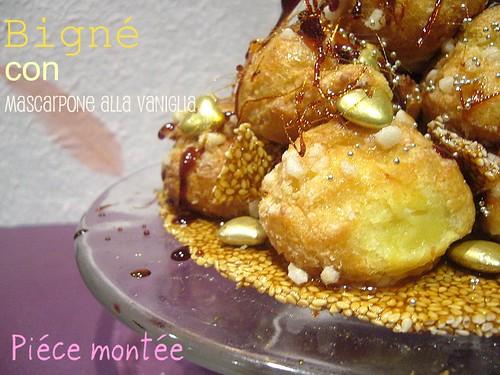 Piéce montés - beignets  mascarpone caramel