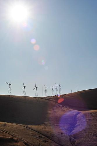 windmills lens flare