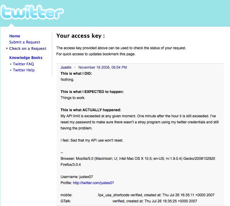 Twitter API Bug? - It's Just JustinIt's Just Justin