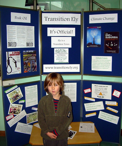 Transition Ely stall at Ely library