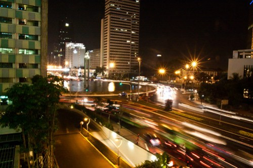 Bundaran HI at Night