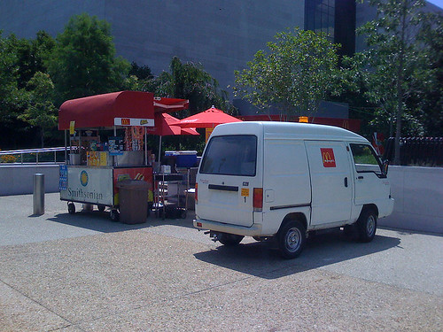 A mobile McDonald's outside the Air & Space Museum in Washington DC - Taken With An iPhone