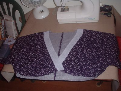 the top part complete... just the arm cuffs and the part that drapes down from just underneath the bust to do.
