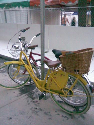 Makeshift Bike Rack