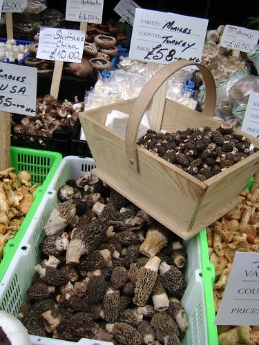 Mushroom stall at Borough Market