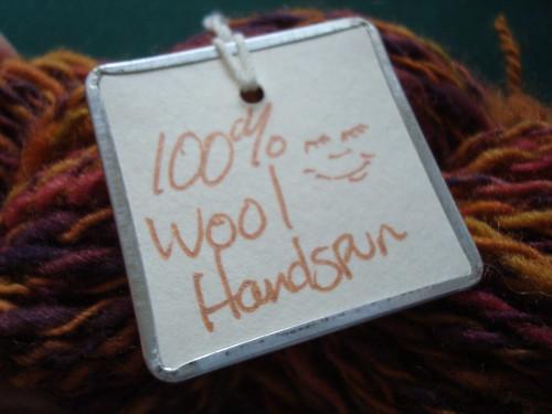 100% wool handspun