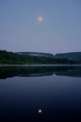 Moonrise Over Keyser Lake