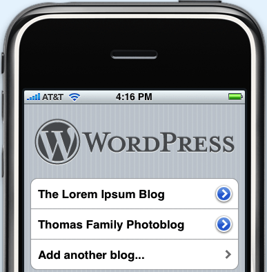 WordPress per iPhone